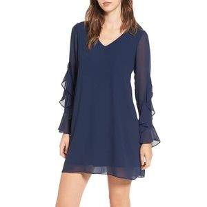 NWT Soprano Ruffle Sleeve Shift Dress